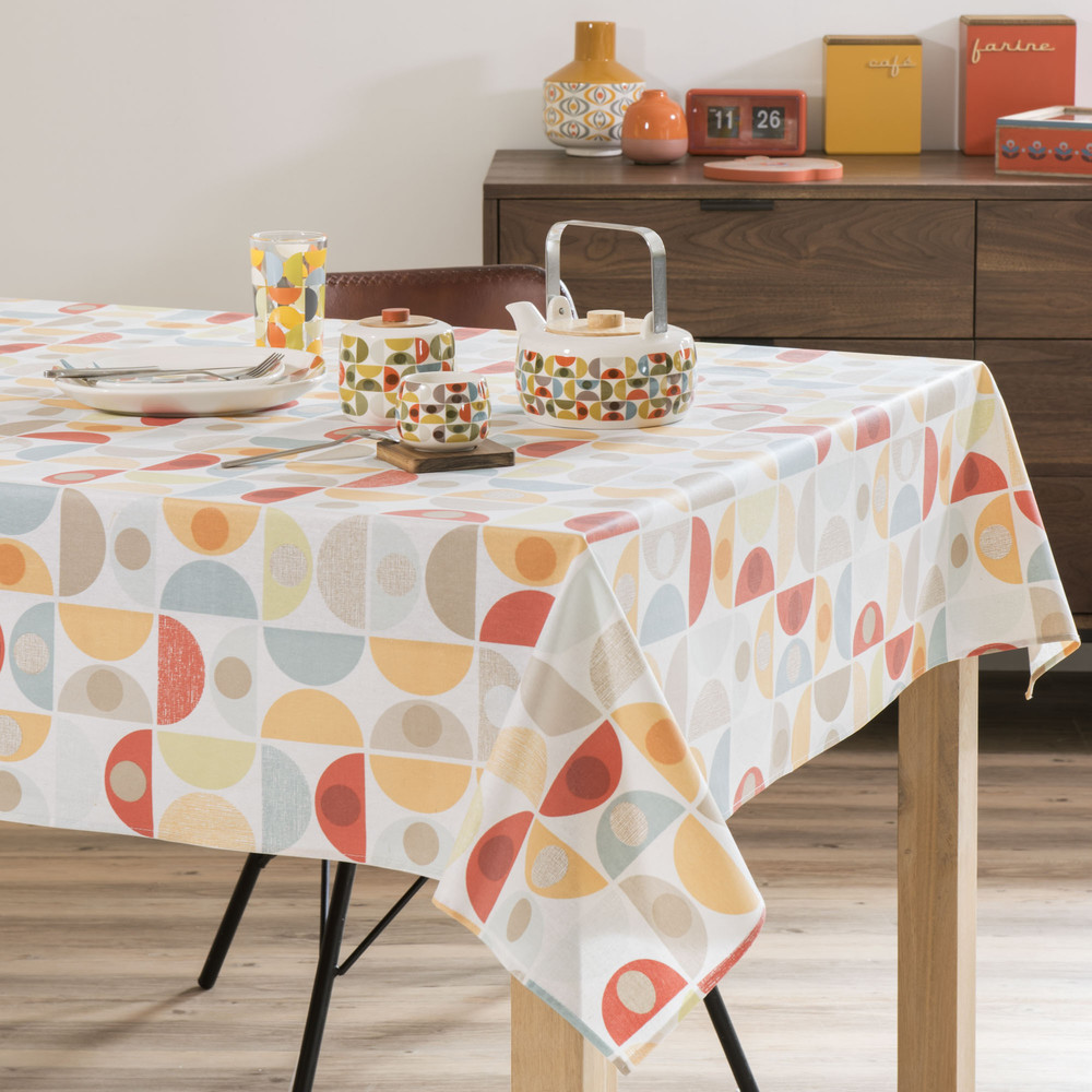 nappe enduite multicolore 140 x 180 cm enny maisons du monde. Black Bedroom Furniture Sets. Home Design Ideas