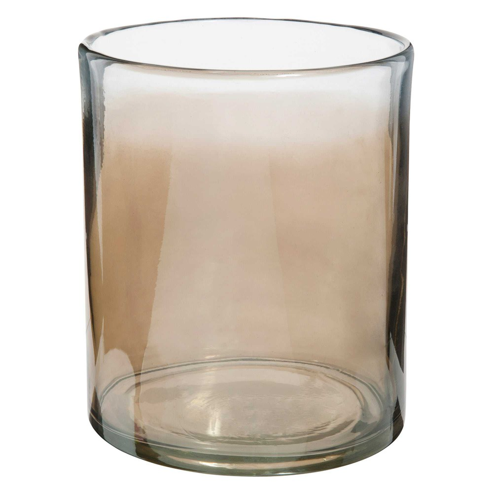 nomade smoked glass vase h 19 cm maisons du monde. Black Bedroom Furniture Sets. Home Design Ideas