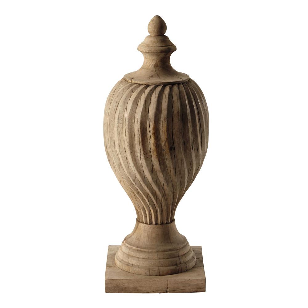 objet d coratif en bois sculpt h 80 cm flora maisons du monde. Black Bedroom Furniture Sets. Home Design Ideas