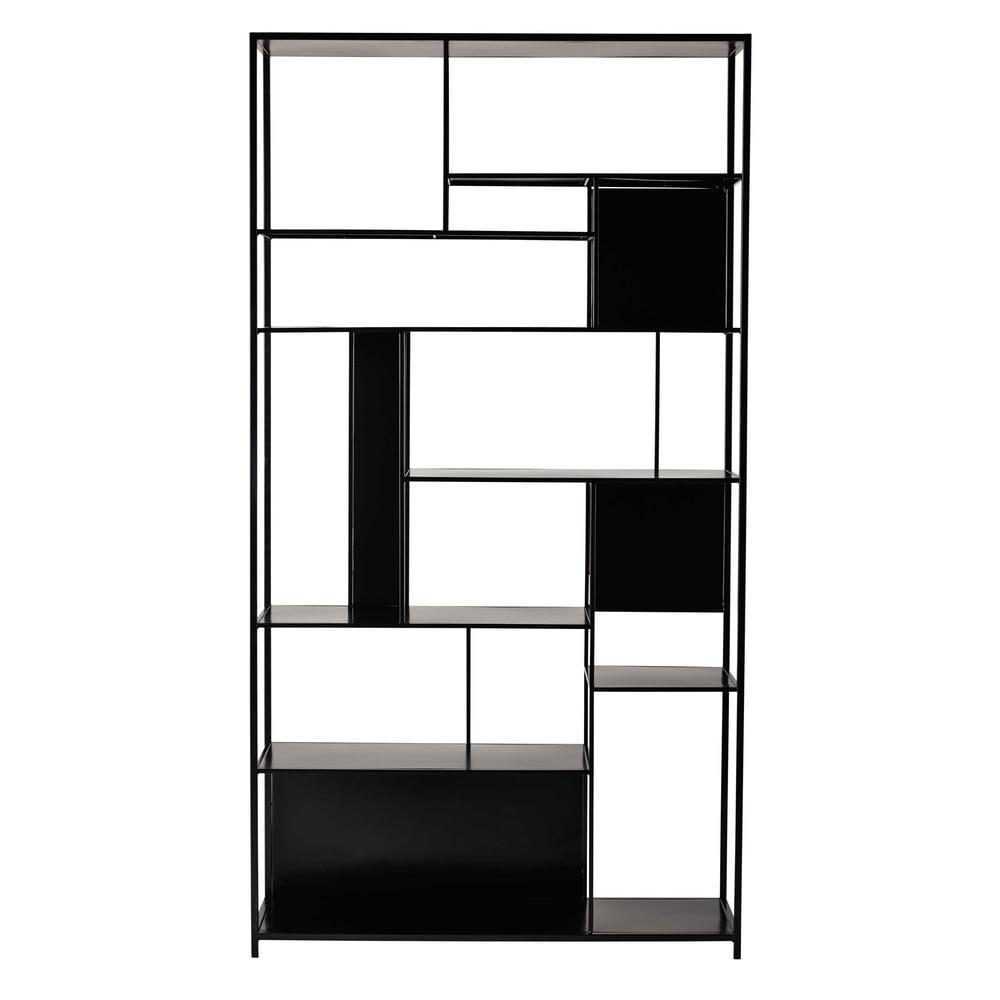Open kast met vakken zwart metaal breedte 107 cm simply maisons du monde - Kast maison du monde ...