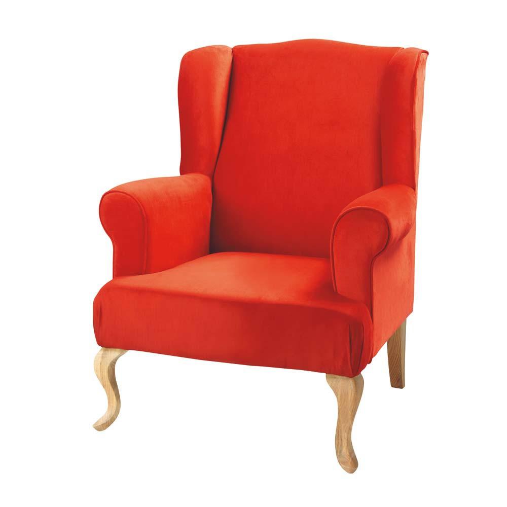 orange armchair charlie charlie maisons du monde