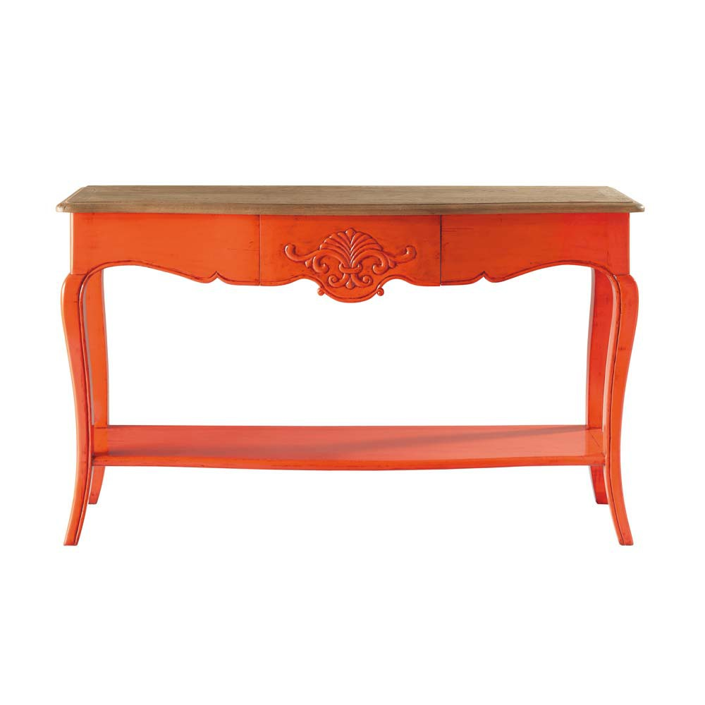 orange side table haute couture haute couture maisons du monde. Black Bedroom Furniture Sets. Home Design Ideas