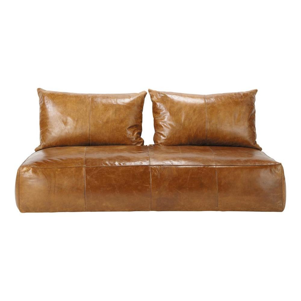 orientalische sitzbank 2 3 sitzersofa nicht ausziehbar leder braun cognac medina medina. Black Bedroom Furniture Sets. Home Design Ideas