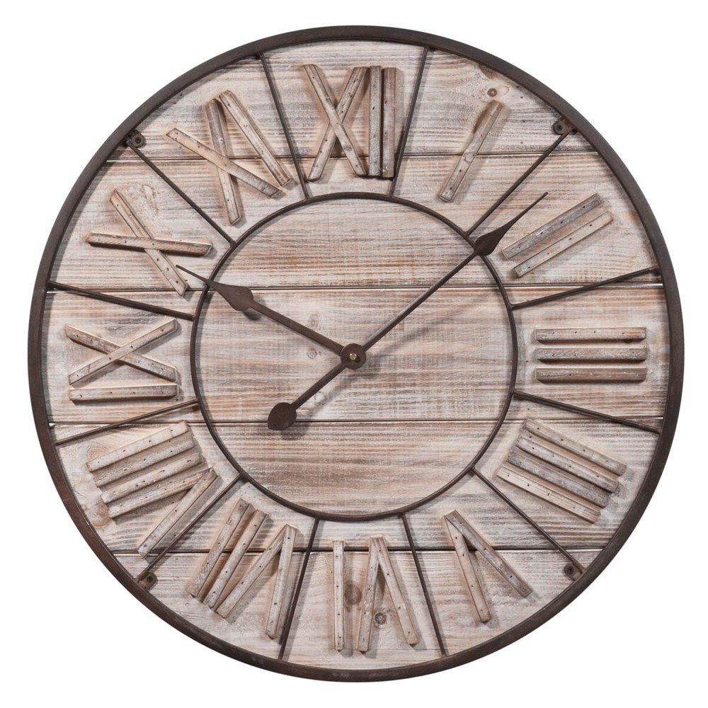 orologio in legno d 60 cm toscana maisons du monde. Black Bedroom Furniture Sets. Home Design Ideas