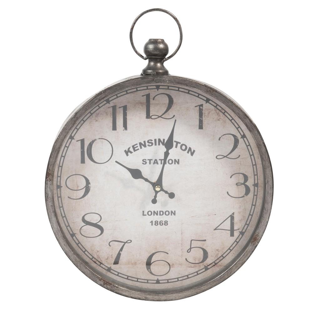 Orologio in metallo a forma di orologio da taschino 30 x for Orologi da parete maison du monde