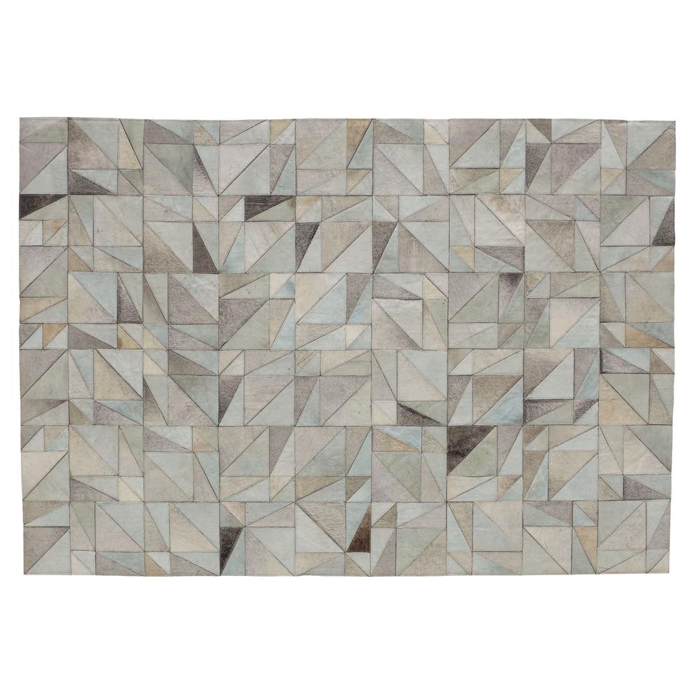 oscope leather rug 160 x 230cm maisons du monde. Black Bedroom Furniture Sets. Home Design Ideas