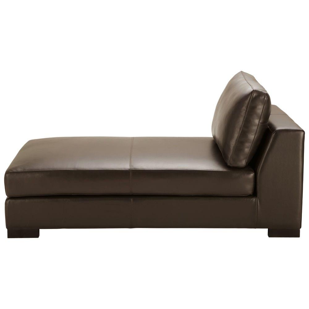ottomane leder braun terence terence maisons du monde. Black Bedroom Furniture Sets. Home Design Ideas