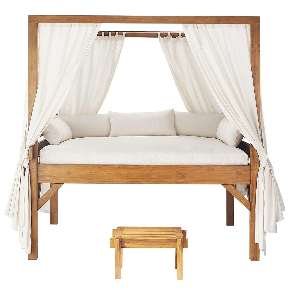 Outdoor canopy bed phuket phuket maisons du monde for Outdoor furniture phuket