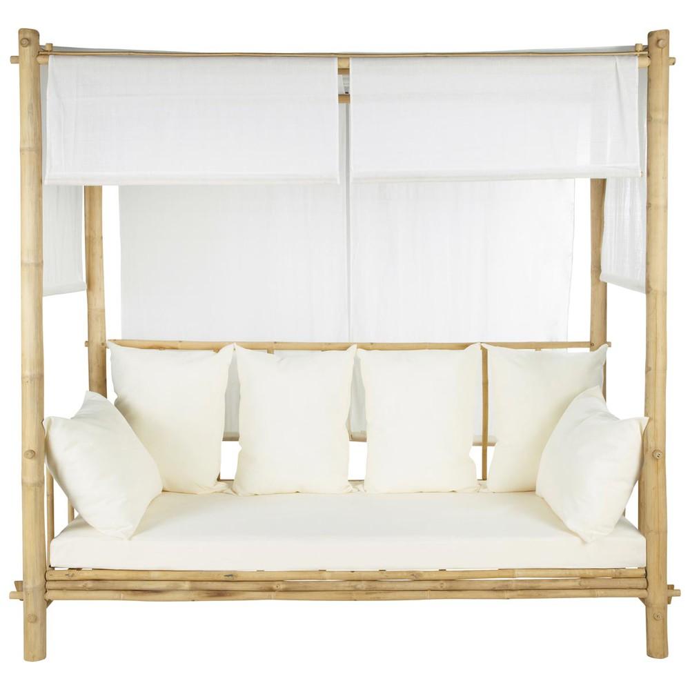 outdoor sitzbank mit baldachin bambus robinson robinson. Black Bedroom Furniture Sets. Home Design Ideas