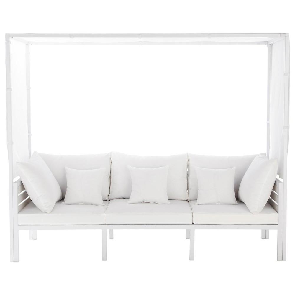 outdoor sitzbank mit baldachin wei ithaque ithaque. Black Bedroom Furniture Sets. Home Design Ideas