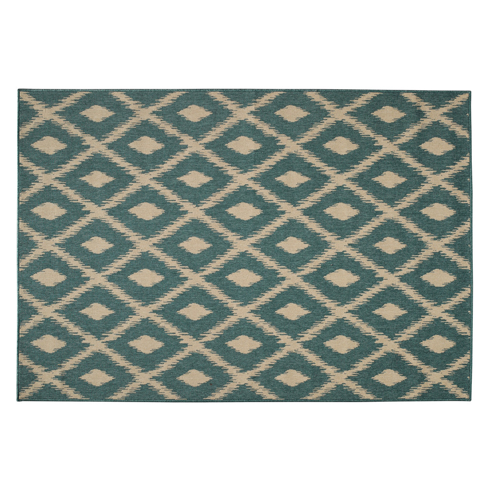 outdoor teppich aus polypropylen gr n 160 x 230 cm seaside. Black Bedroom Furniture Sets. Home Design Ideas