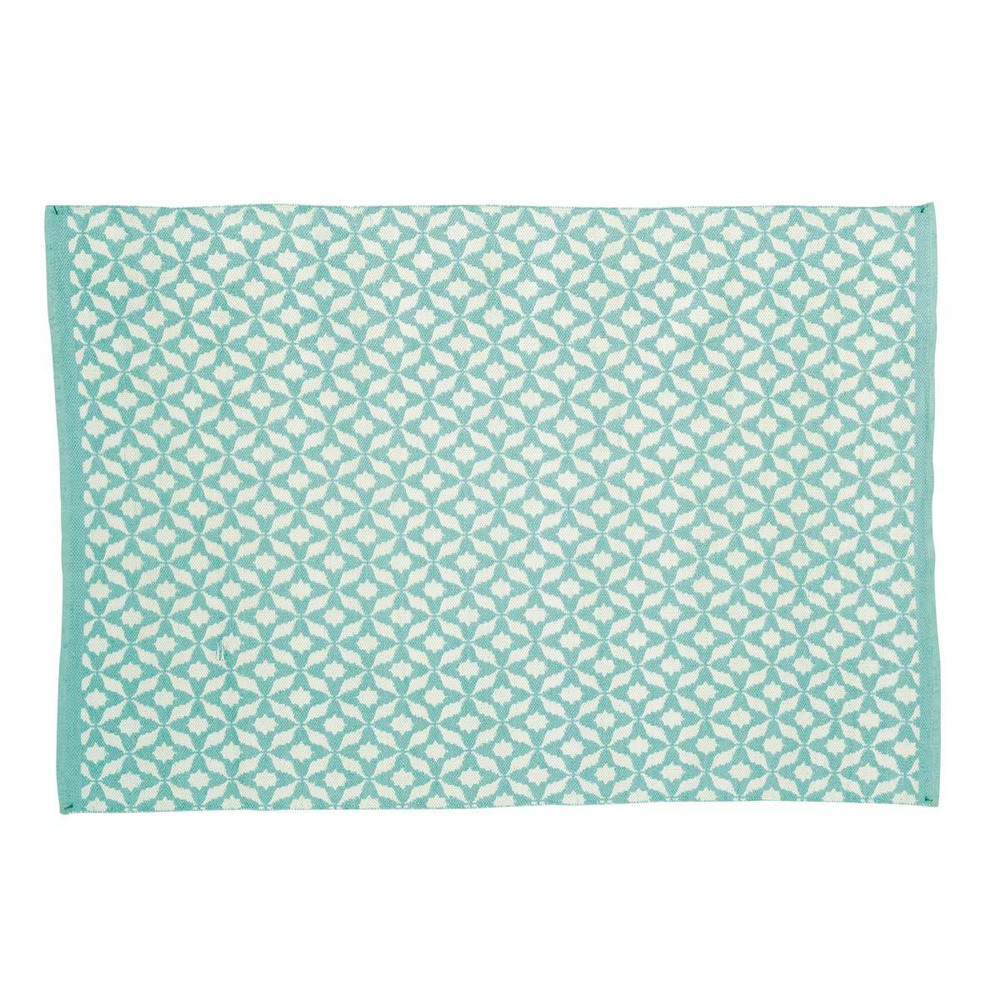 outdoor teppich t rkisblau 140 x 200 cm nikeo maisons du. Black Bedroom Furniture Sets. Home Design Ideas