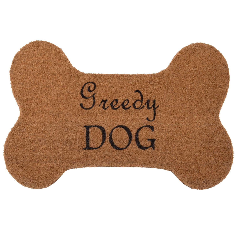Paillasson os de chien en fibre de coco imprimé n...