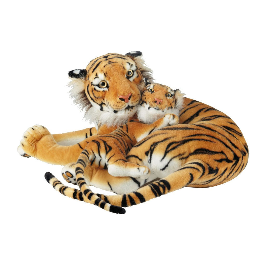 Pair of Savannah stuffed toy tigers