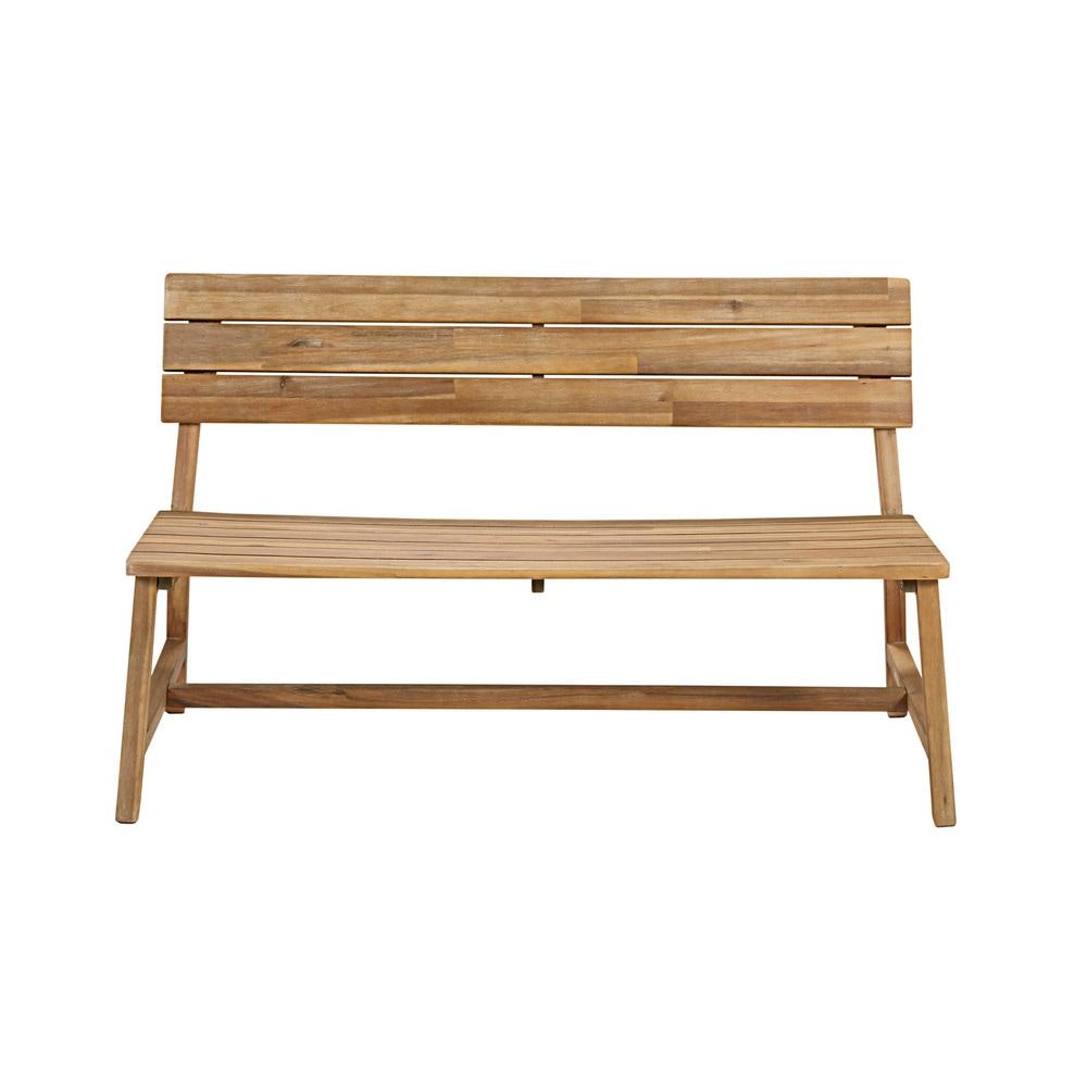 Panca da giardino 2 posti in legno massello di acacia - Maison du monde mobili da giardino ...