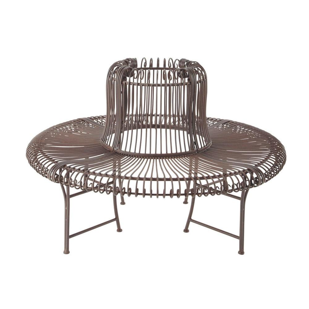 Panca marrone da giardino in ferro battuto l 143 cm - Mobili da giardino in ferro battuto ...