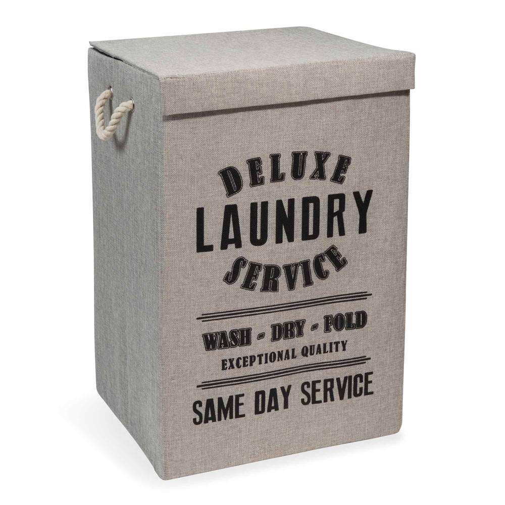 Panier linge en tissu laundry deluxe maisons du monde - Panier a linge maison du monde ...