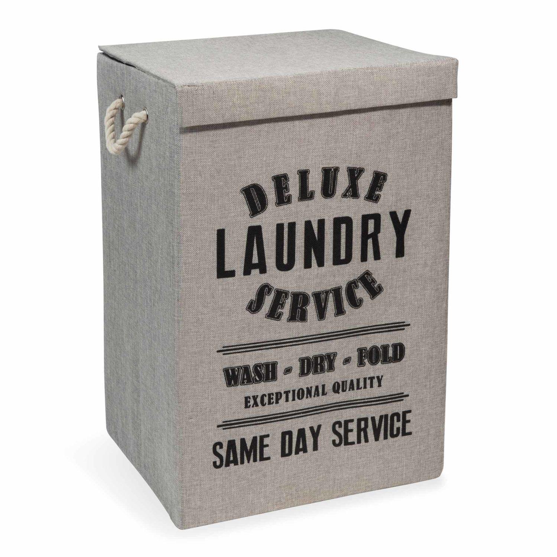 Panier A Linge En Tissu Laundry Deluxe Maisons Du Monde