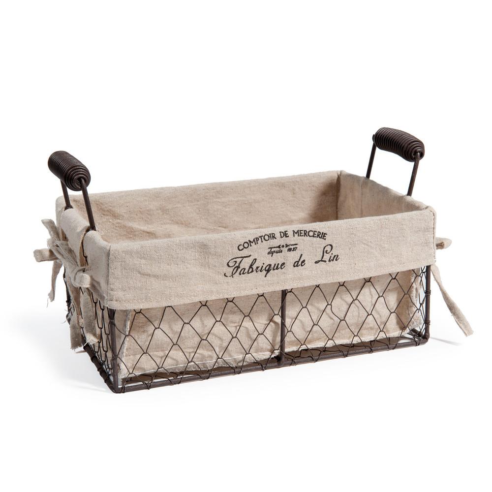 panier en m tal comptoir du lin maisons du monde. Black Bedroom Furniture Sets. Home Design Ideas