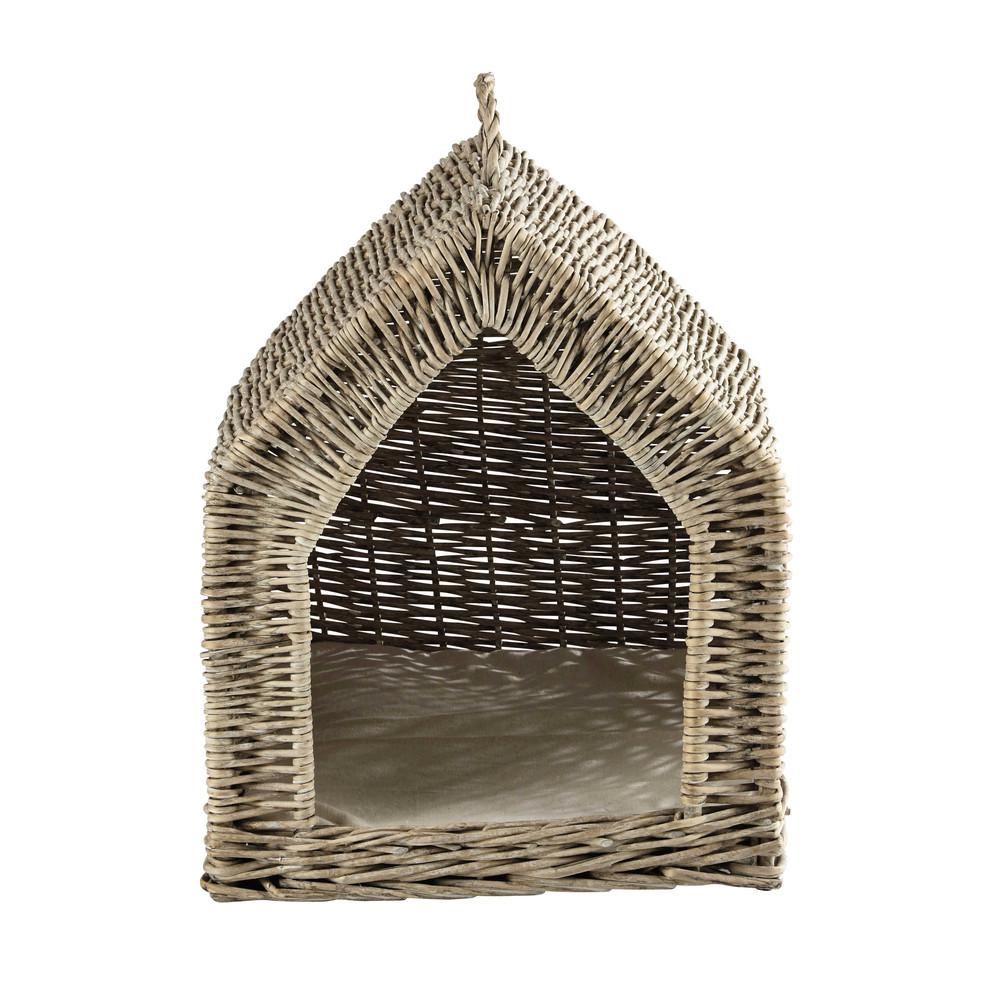 panier pour animaux en osier tress l 34 cm mariette. Black Bedroom Furniture Sets. Home Design Ideas