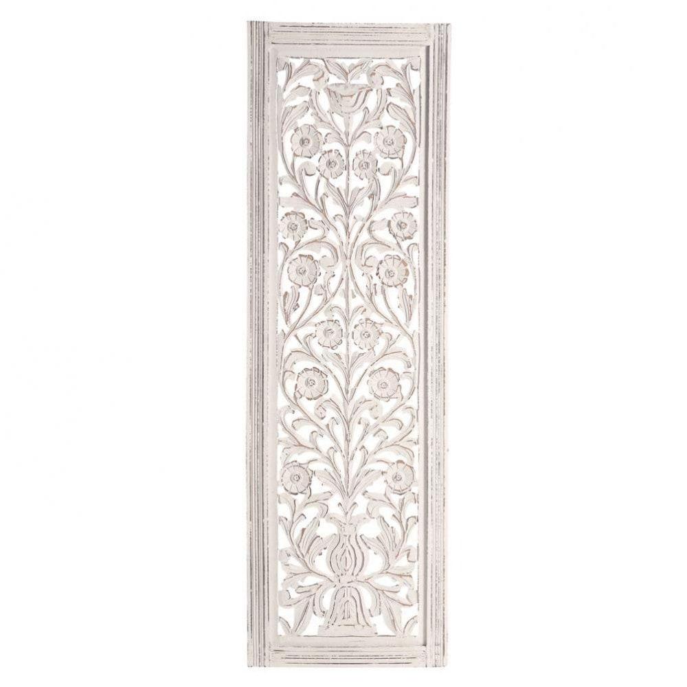Panneau blanchi maisons du monde for Panneau de bois interieur