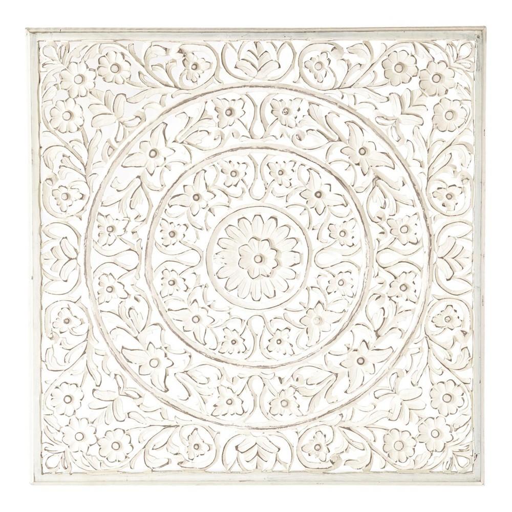 pannello a parete ranakpur bianco maisons du monde. Black Bedroom Furniture Sets. Home Design Ideas
