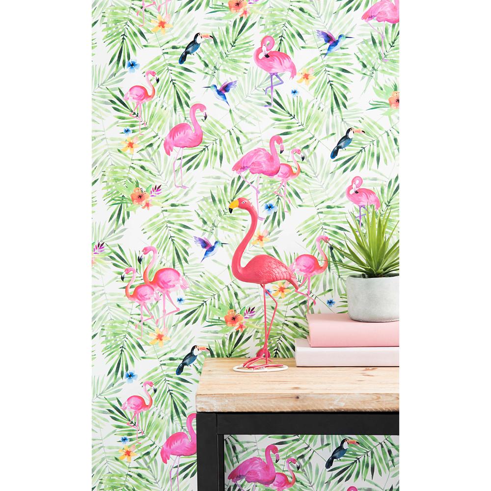 papier peint intiss imprim tropical h 1005 x l 53 cm. Black Bedroom Furniture Sets. Home Design Ideas