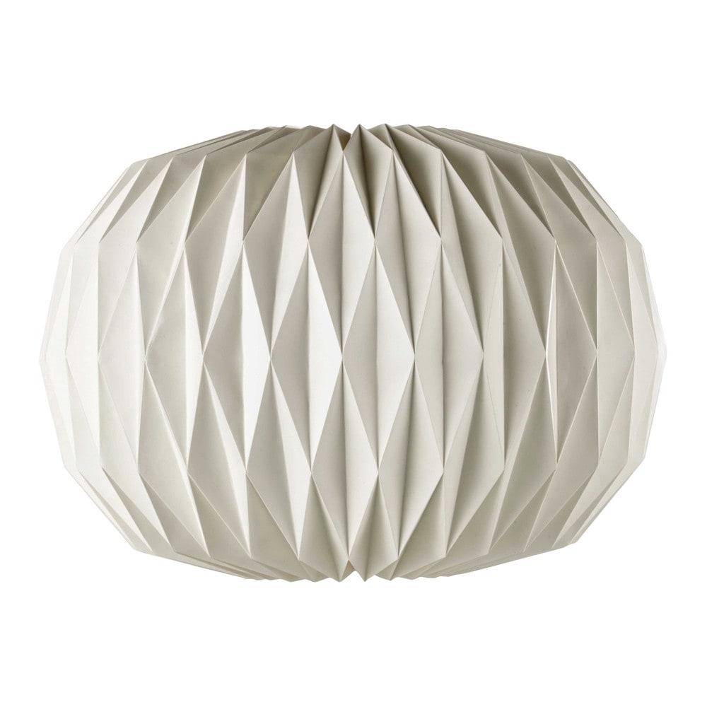 Papieren niet elektrische hanglamp wit diameter 70 cm zen maisons du monde - Nachtkastje zen ...