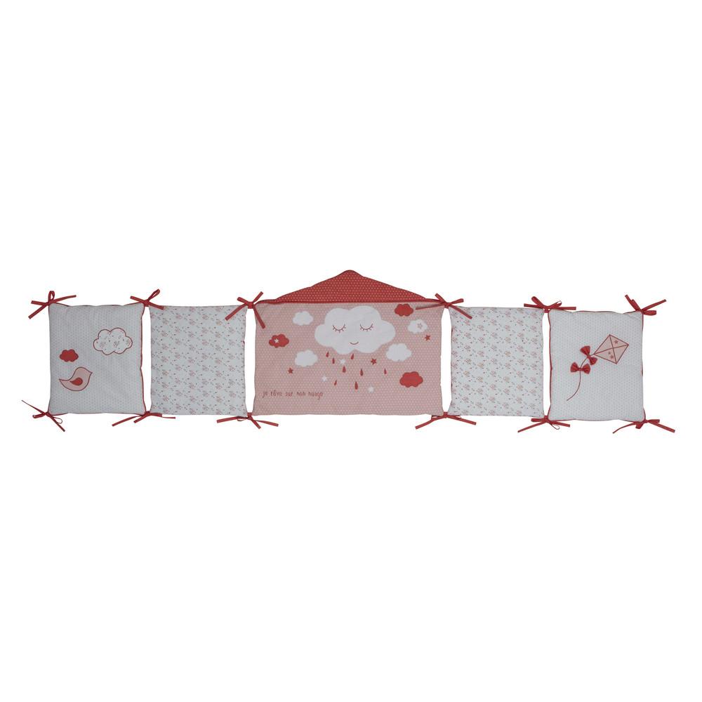 paracolpi lettino neonato in cotone rosa 45 x 180 cm coquette maisons du monde. Black Bedroom Furniture Sets. Home Design Ideas