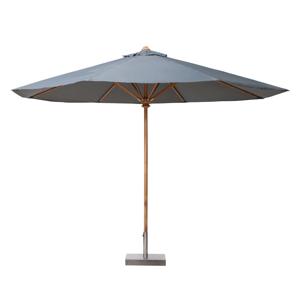 parasol 350 cm rond gris ol ron maisons du monde. Black Bedroom Furniture Sets. Home Design Ideas
