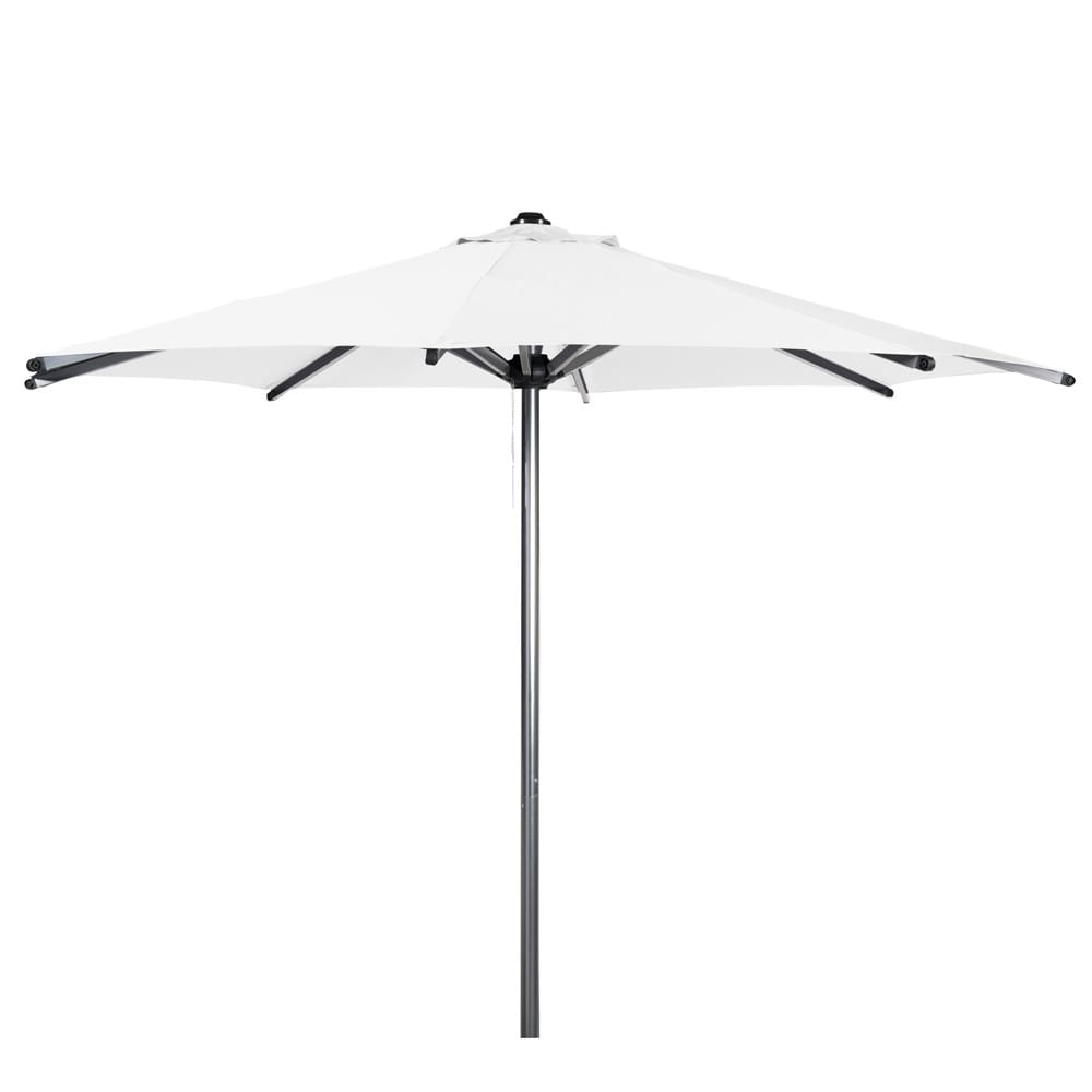 parasol en tissu et aluminium effet chrom blanc marbella maisons du monde. Black Bedroom Furniture Sets. Home Design Ideas