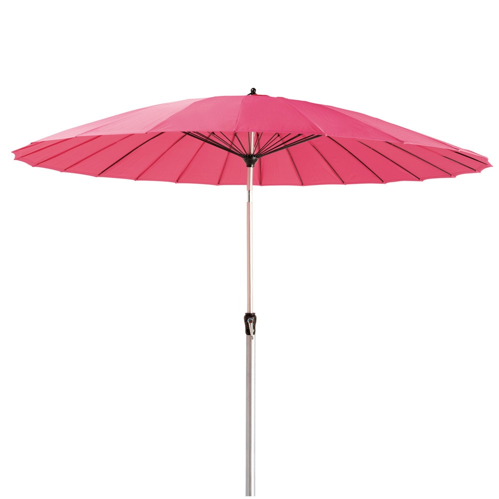 parasol en tissu et aluminium fuchsia papaye maisons du monde. Black Bedroom Furniture Sets. Home Design Ideas