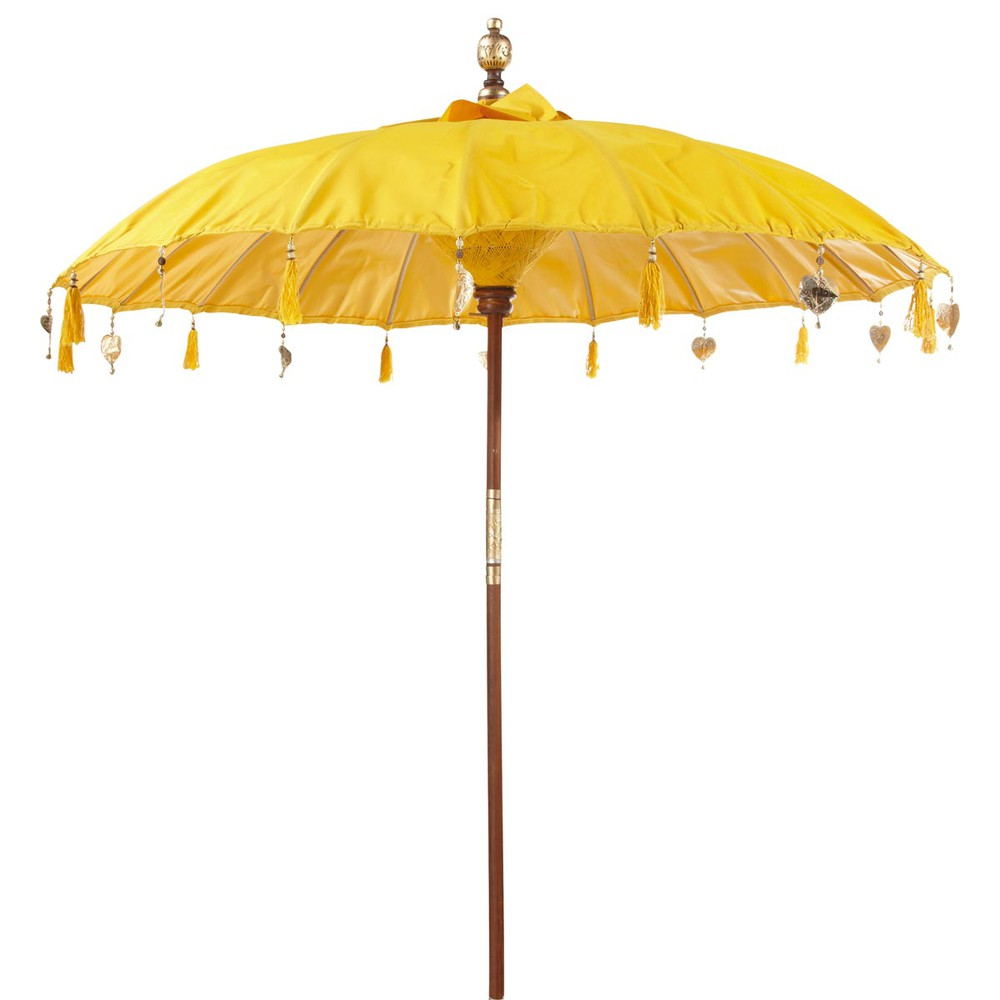 parasol ubud jaune maisons du monde. Black Bedroom Furniture Sets. Home Design Ideas