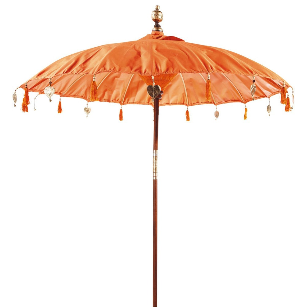 parasol ubud orange maisons du monde. Black Bedroom Furniture Sets. Home Design Ideas
