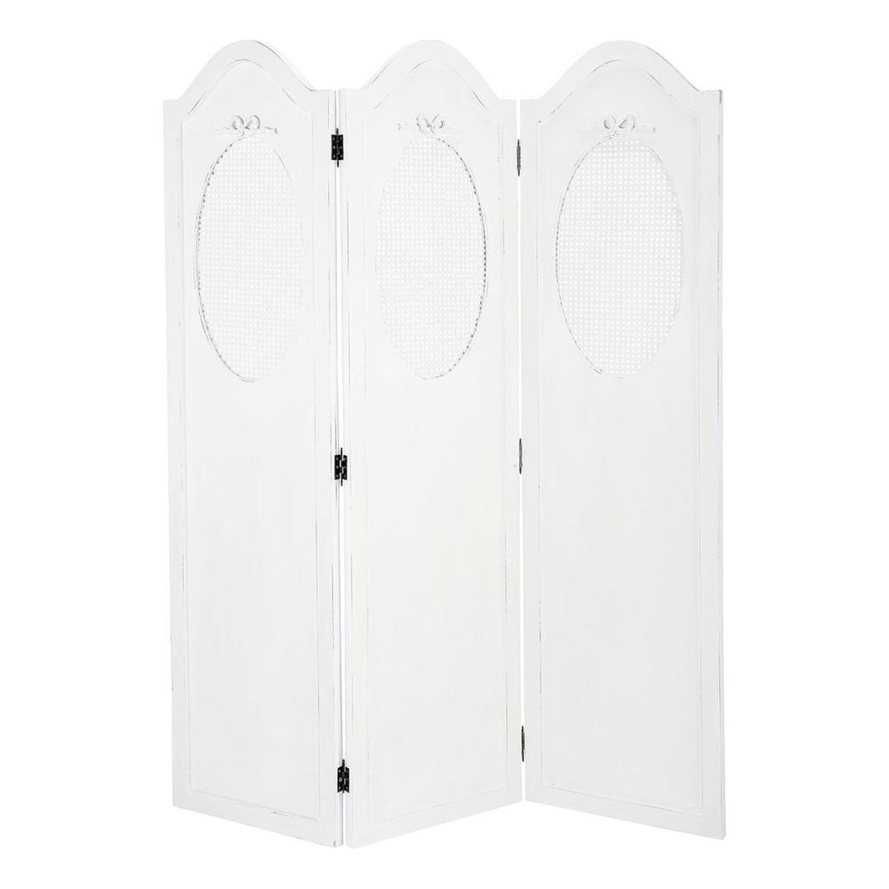 paravent blanc ivoire charlotte maisons du monde. Black Bedroom Furniture Sets. Home Design Ideas