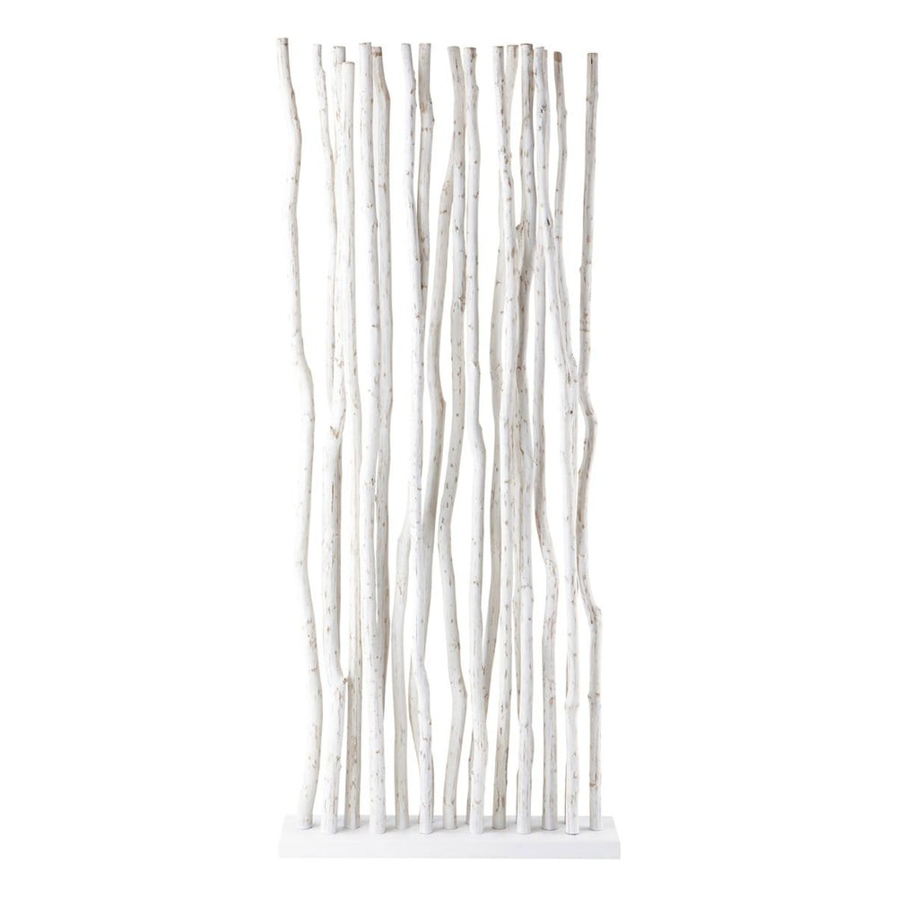 Paravent en teck blanc l 87 cm jungle maisons du monde for Paravento ikea