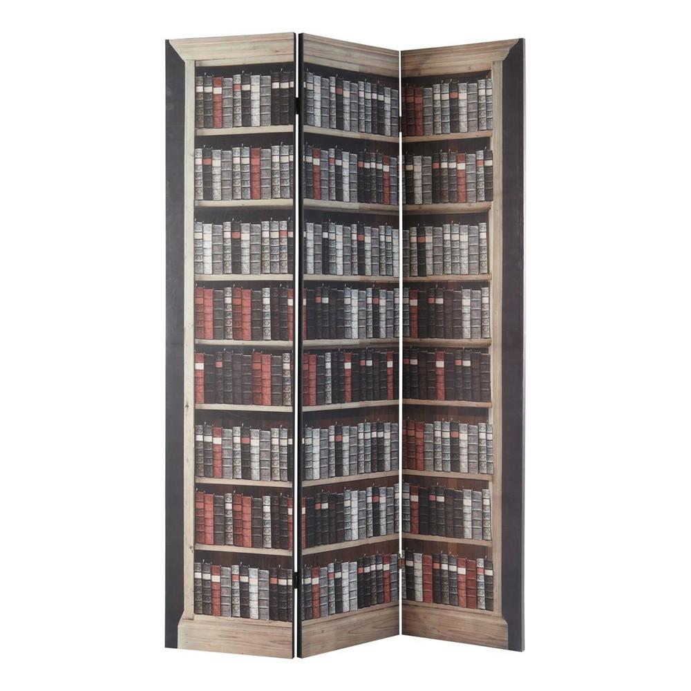 paravent imprim en bois l 120 cm shakespeare maisons du. Black Bedroom Furniture Sets. Home Design Ideas