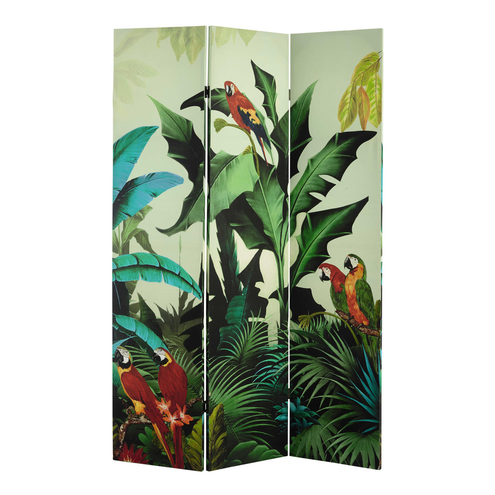 paravent imprim tropical l 121 cm santana maisons du monde. Black Bedroom Furniture Sets. Home Design Ideas