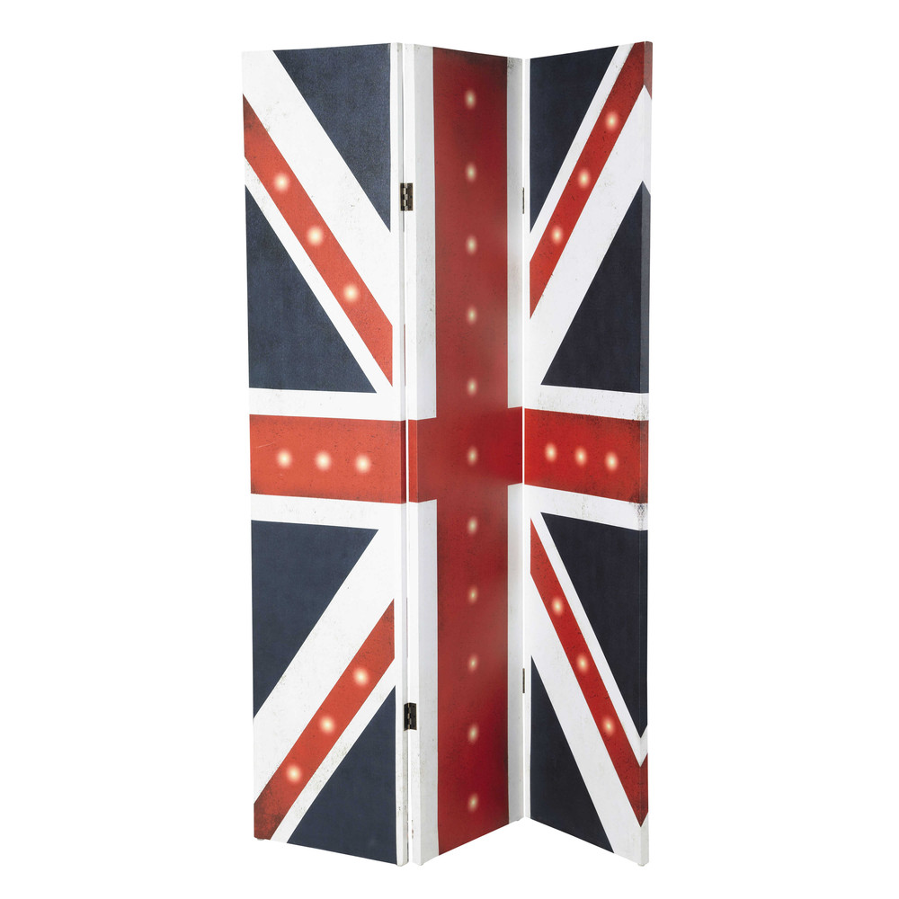paravent lumineux drapeau uk en toile l 180 cm britain maisons du monde. Black Bedroom Furniture Sets. Home Design Ideas