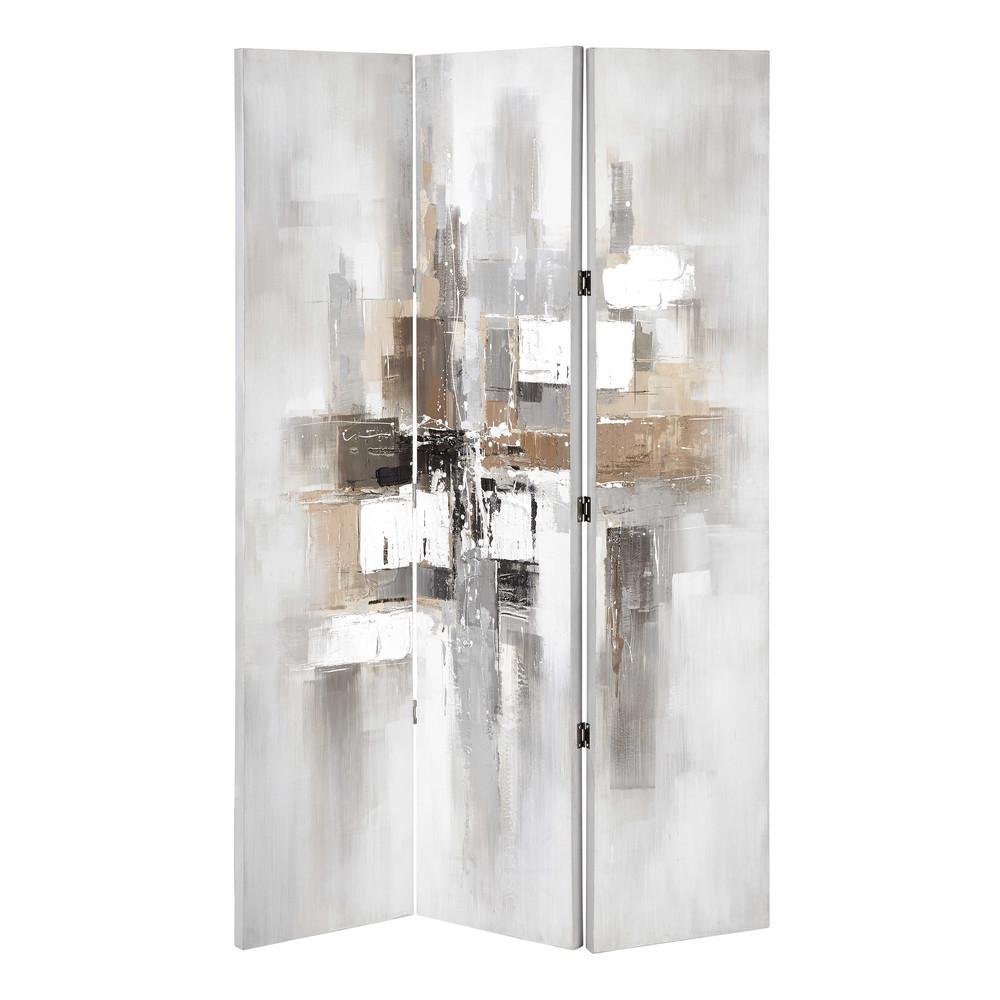 paravento in legno colorato l 119 cm modern art maisons du monde. Black Bedroom Furniture Sets. Home Design Ideas