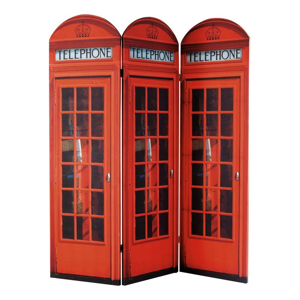 Paravento rosso in legno l 150 cm cabine uk maisons du monde - Cabine in legno ...