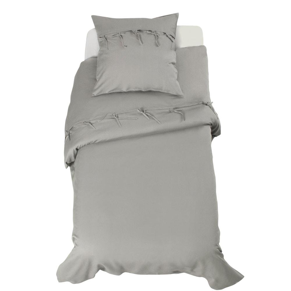parure cosy grise 140x200 maisons du monde. Black Bedroom Furniture Sets. Home Design Ideas