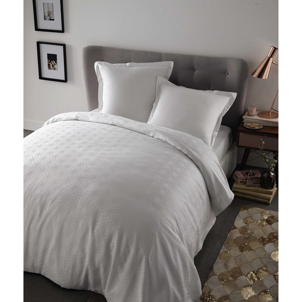 Parure de lit 240 x 260 cm en coton blanche chlo maisons du monde for Parure de lit blanche