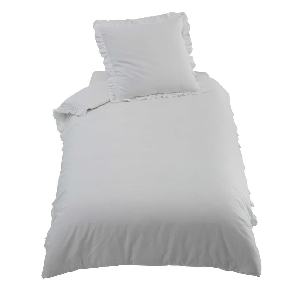 parure de lit en coton crue 140 x 200 cm ana s maisons du monde. Black Bedroom Furniture Sets. Home Design Ideas