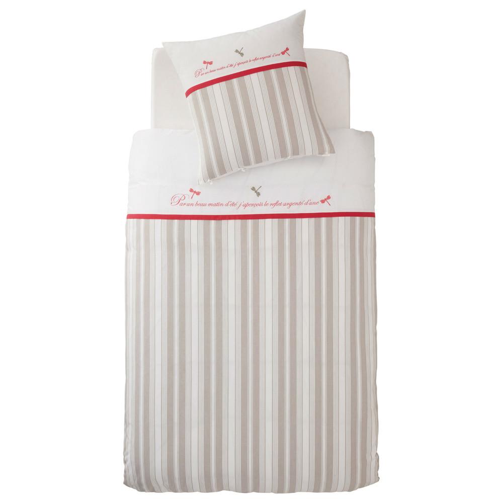 parure housse de couette enfant libellule 140x200 maisons du monde. Black Bedroom Furniture Sets. Home Design Ideas