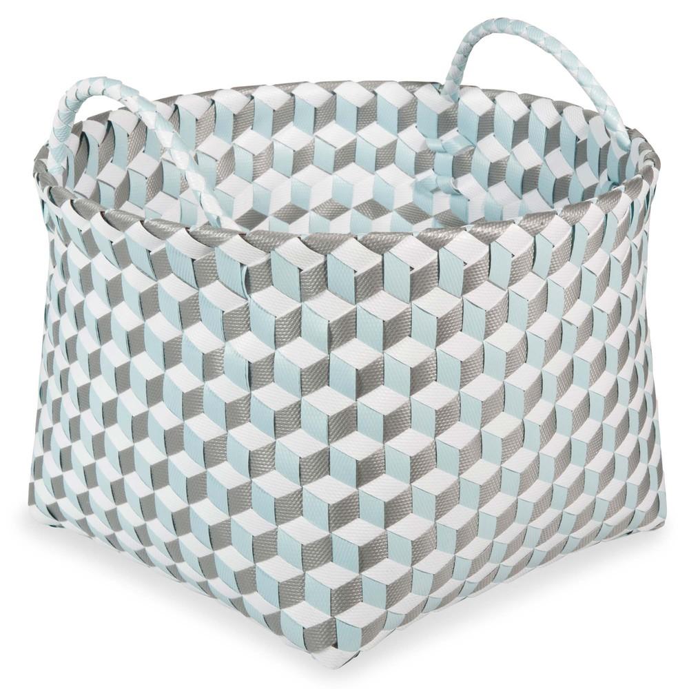 pastel woven basket 21 x 24 cm maisons du monde. Black Bedroom Furniture Sets. Home Design Ideas