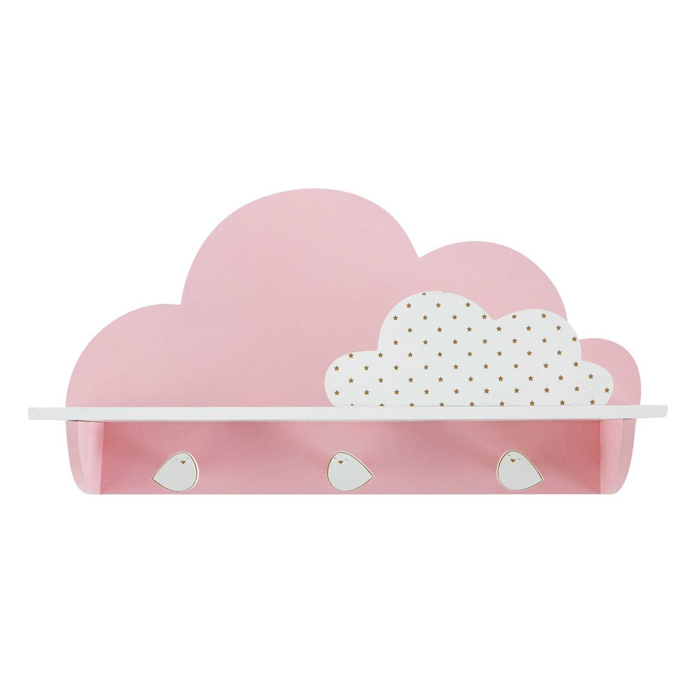 great patre crochets nuage rose bird song with patere chambre fille. Black Bedroom Furniture Sets. Home Design Ideas