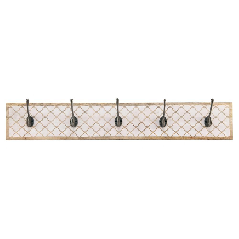 pat re 5 crochets en manguier blanc aditya maisons du monde. Black Bedroom Furniture Sets. Home Design Ideas