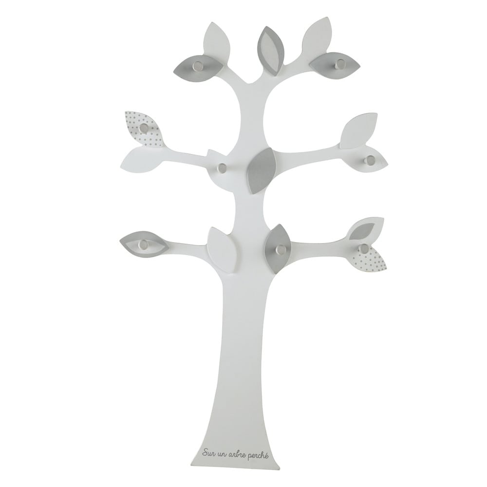 Pat re arbre 8 crochets gris h 80 cm songe maisons du monde - Porte manteau enfant arbre ...