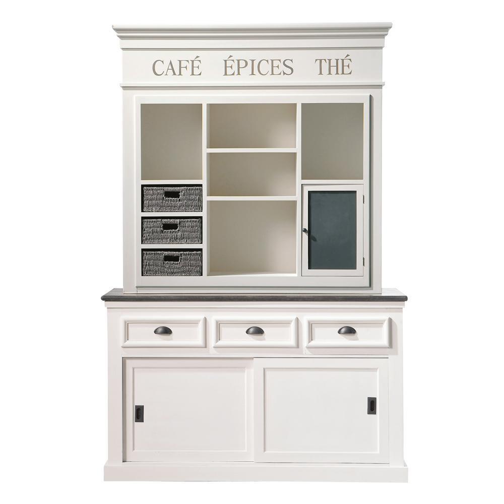 Paulownia wood dresser in white w 140cm comptoir des pices maisons du monde - Comptoir de cuisine maison du monde ...